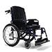 Wózek wyposażony w hamulce bębnowe dla osoby towarzyszącej-opcja.